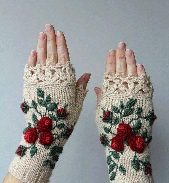 Pin de Biljana Antonic en Knitting | Pinterest | Guantes, Bordado y ...