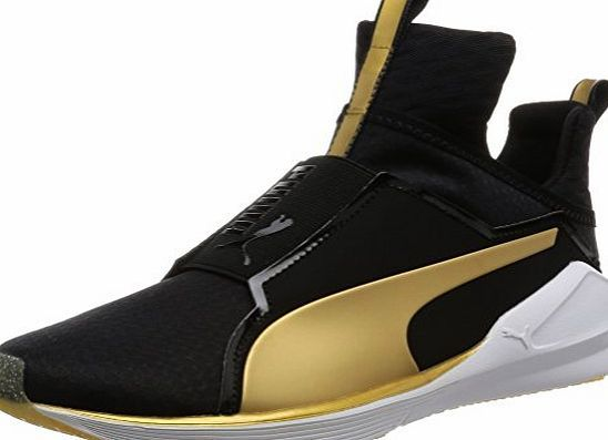 Puma Fierce Gold, Womens Indoor Multisport Court Shoes, BLACK-GOLD 02, 5 UK  (38 EU) Material  textile material Color  black gold Closing  slip on Brand  ... ad09f41dcd