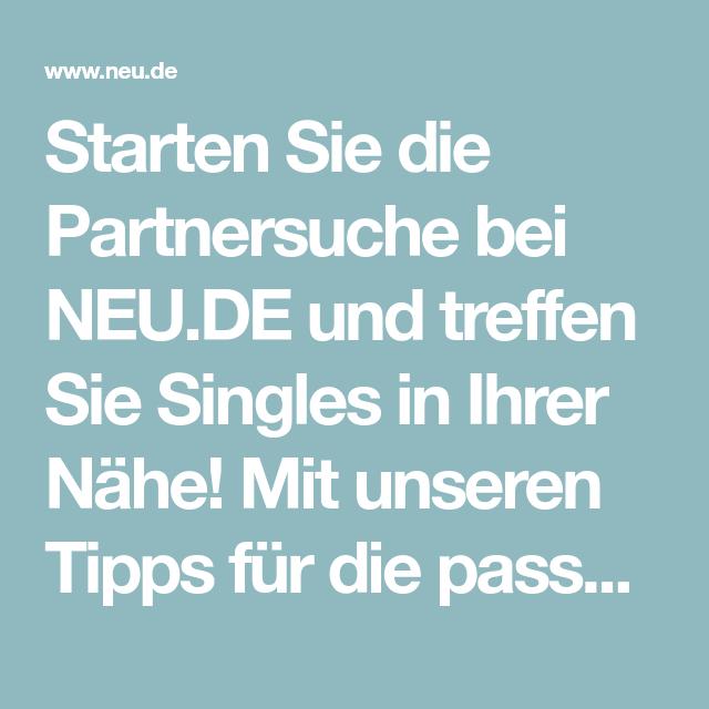 Partnersuche Neu De