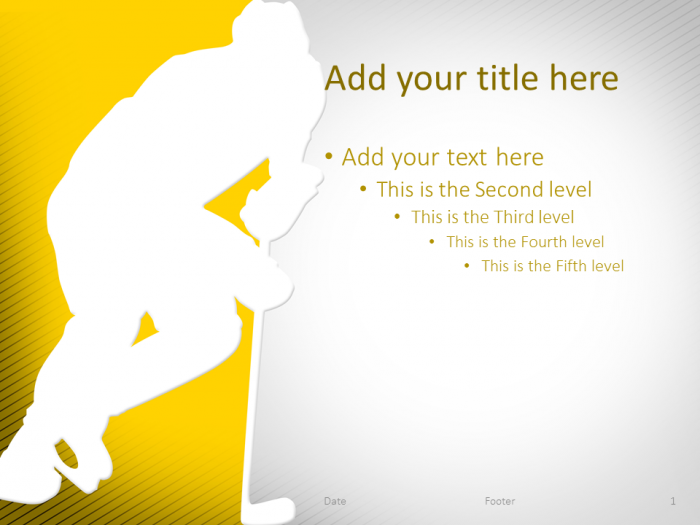 Hockey Powerpoint Template Yellow Presentationgo Com Powerpoint Templates Powerpoint Powerpoint Template Free