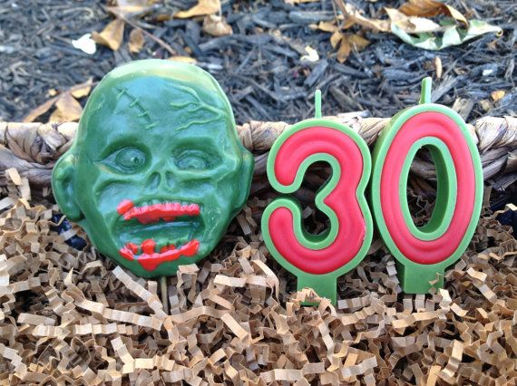 Zombie Birthday Candles By BabyBearCandles On Etsy