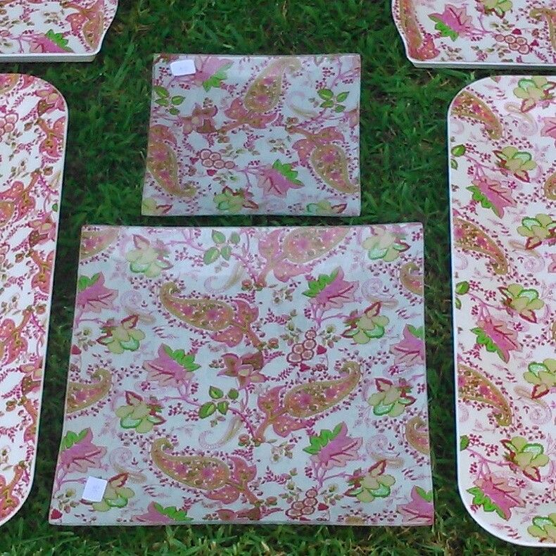 Fuentes/platos decorados con decoupage. Ideality