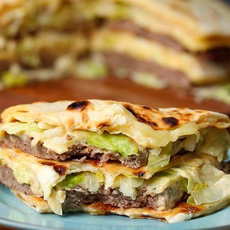 Giant Quesadilla Big Mac   Recipe   Food recipes, Food ...