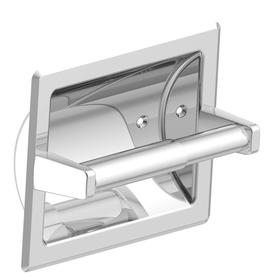 Project Source Seton Chrome Recessed Spring Loaded Toilet Paper Holder Fsi Srtp Crom Recessed Toilet Paper Holder Polished Chrome Chrome