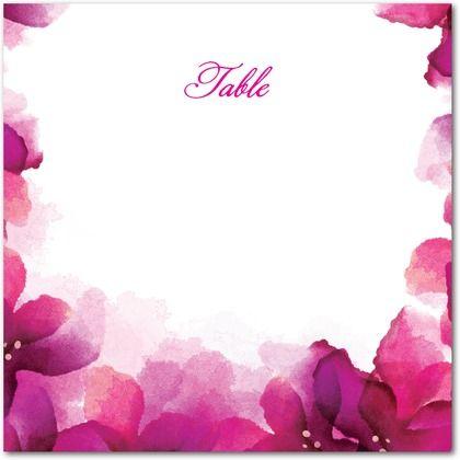 Printable Table Numbers Vivid Blooms//