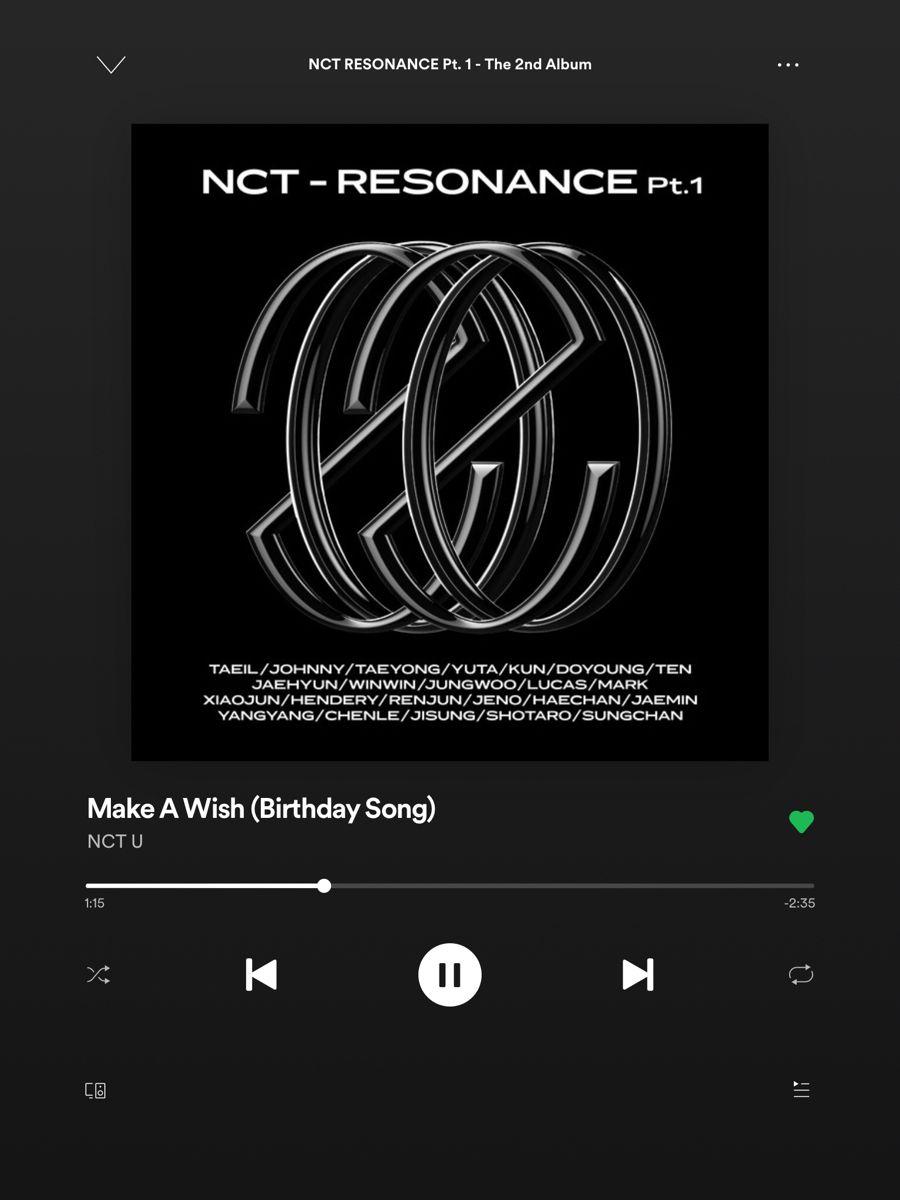 Make A Wish Birthday Song Nct U Birthday Songs Nct Songs