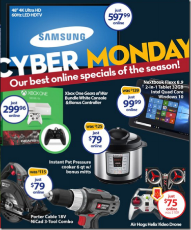 WALMART CYBER MONDAY COUPON CODES