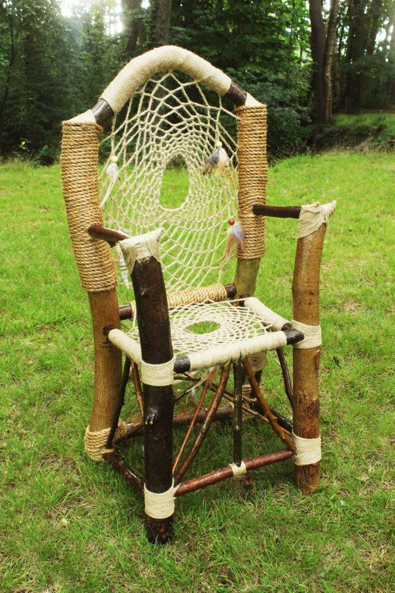 Handmade One Of A Kind Dream Catcher Chair By HagendorfOriginals Amazing Dream Catchers Furniture