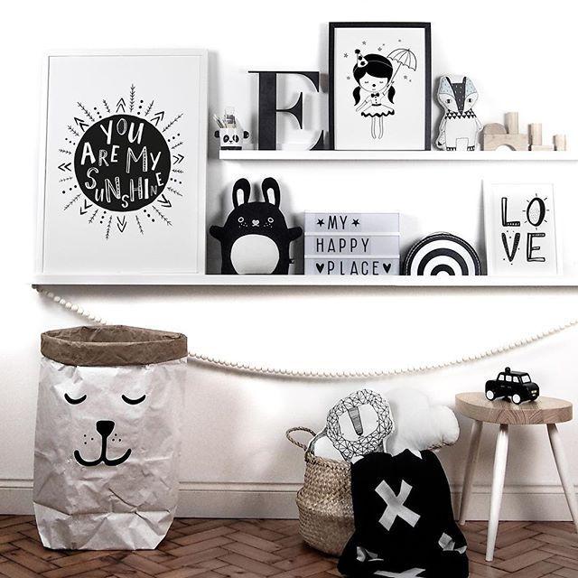 Nursery Styling Shelfie Love Children S Monochrome Prints Little Print Uk