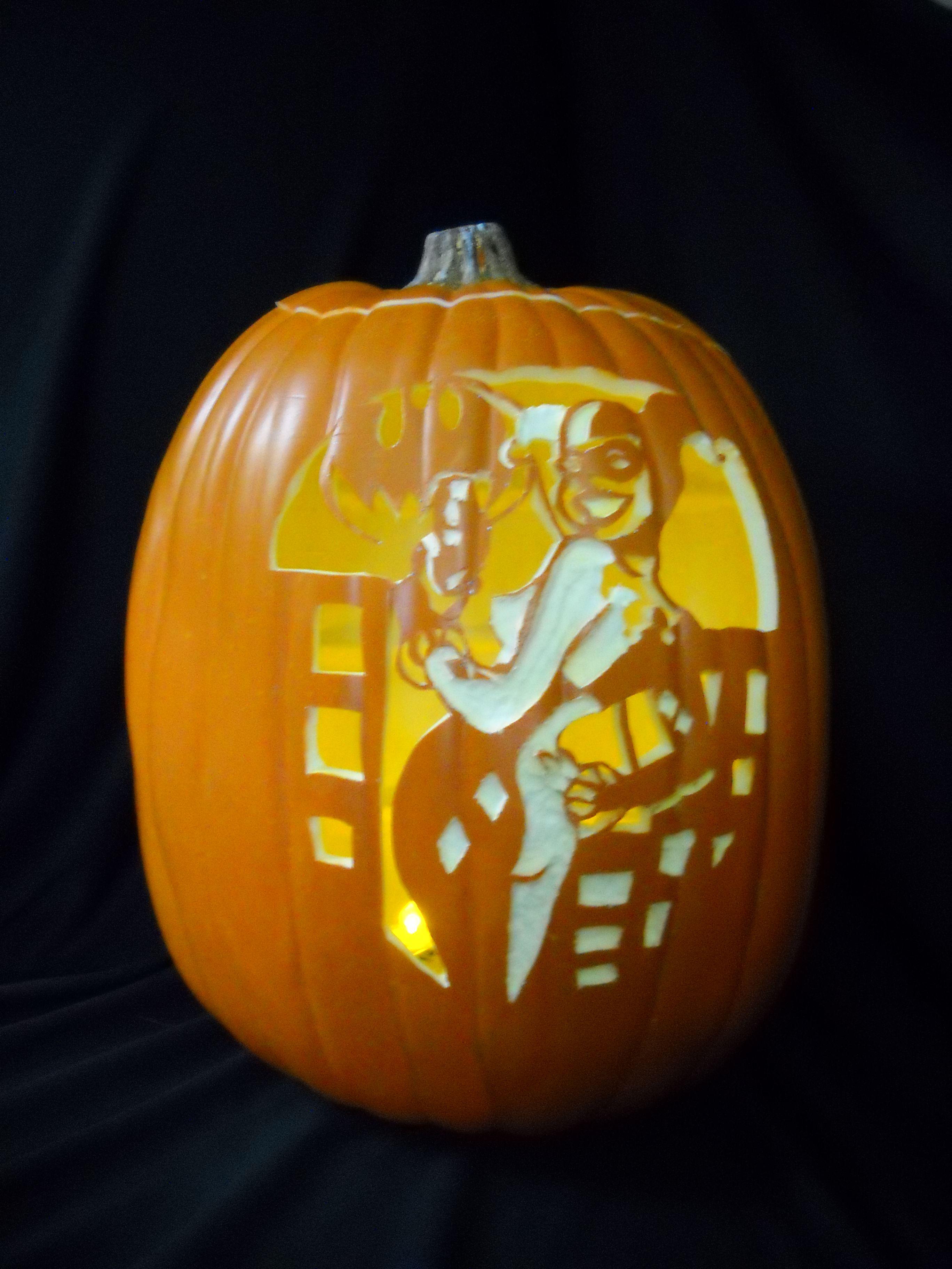 harley quinn pumpkin carving stencil  Pin on Pumpkin carving