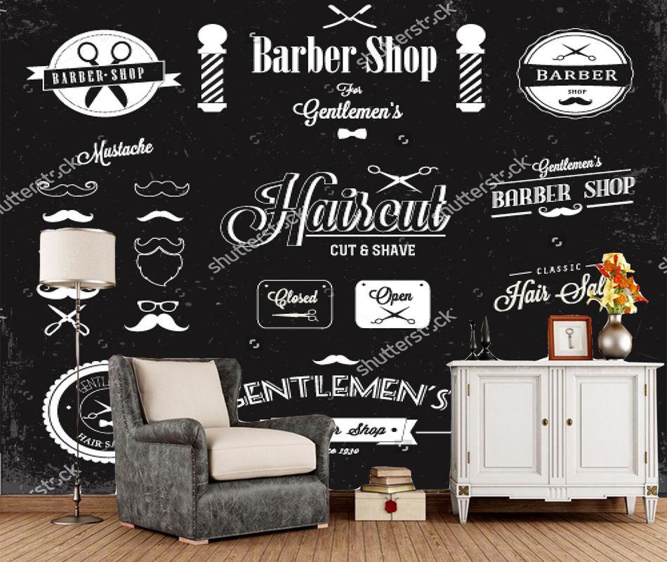 Barbershop Wallpaper Barber Shop Living Room Background Wallpaper Decor