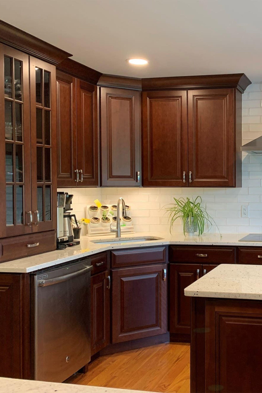 Kitchen Wyoming Cherry Java Cabinets Kitchen Interior Home Renovation Home Kitchens
