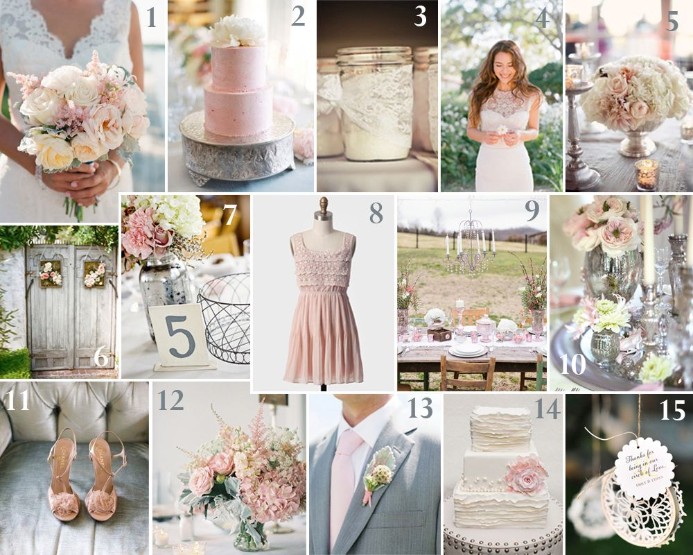Pink & Gray Wedding Ideas - MYWVWEDDING.COM | Going to the Chapel ...