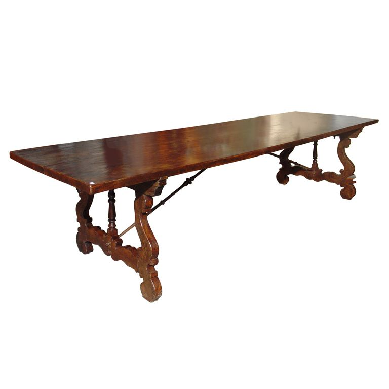 Massive Antique Elm Dining Table from Spain-Early 1700s