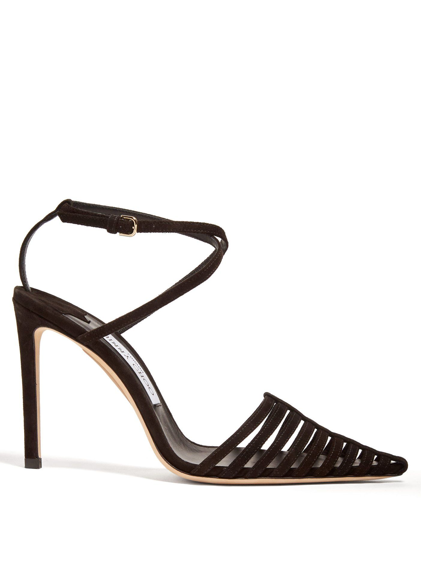 68eab3fd4 Thu 100 suede cage heels