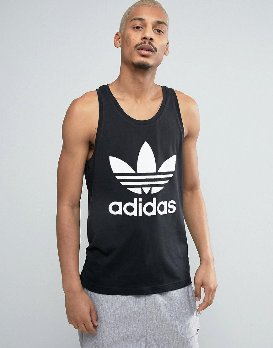 5eac0ac9f9ea ADIDAS ORIGINALS TREFOIL LOGO TANK IN BLACK BK7104 - BLACK.  adidasoriginals   cloth