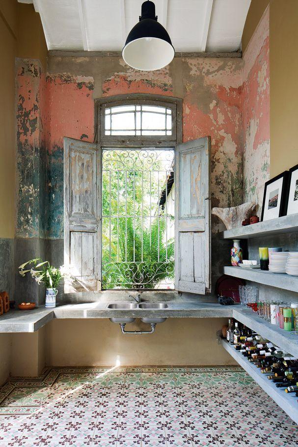 Wandgestaltung: Rohe Wände mit Patina | Schöner Wohnen | Pinterest ...