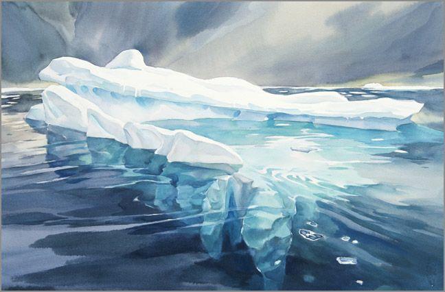 Iceberg N 10 David Mceown Blog Landscape Paintings Watercolor