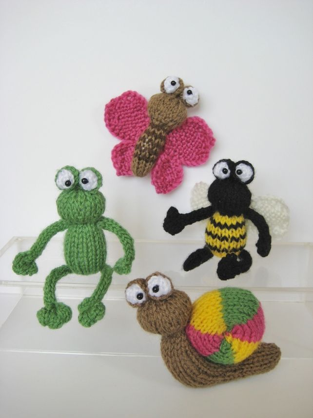 Frogs And Bugs Little Toy Knitting Patterns Knitting Animals