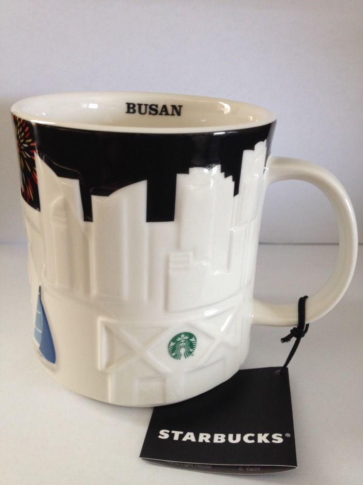 New Cup Korea Coffee 16 Busan Mug Ounces Starbucks Relief 2013 lu1cF5TKJ3