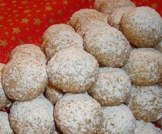 Deutsche Weihnachtsplätzchen.Weihnachts Schneebällchen Plätzchen Kekse