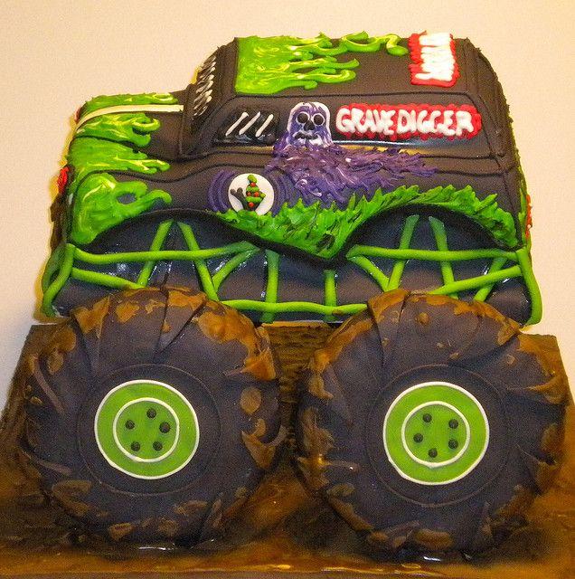 Grave Digger Cakes Cake Truck Cakes Birthday Cake