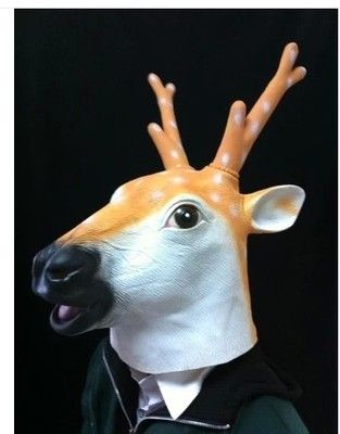 Interesting. latex deer mask good
