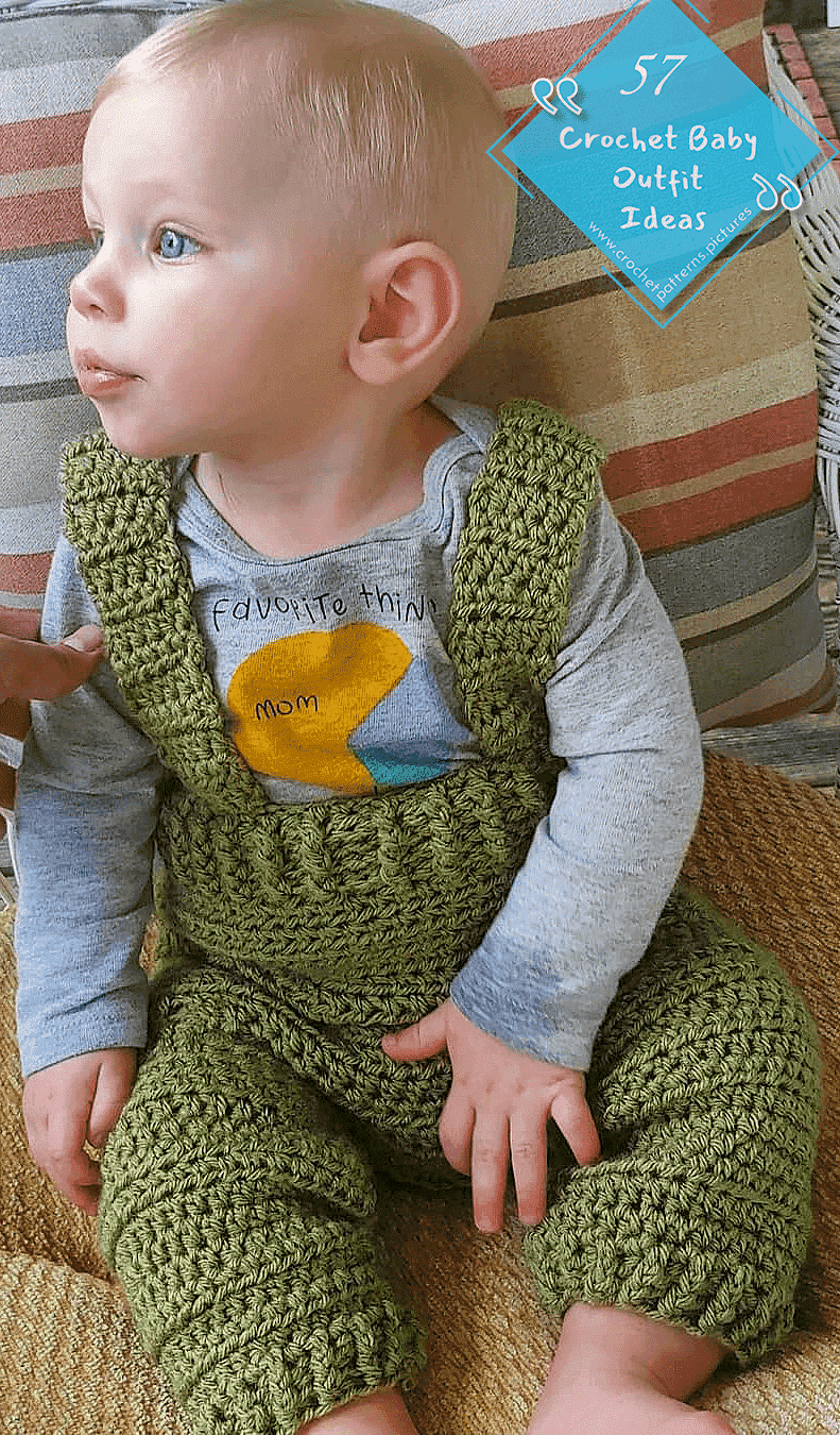 Photo of 57 Crochet Outfit Suggestions To Make Your Newborn Babies Look Cute. Pattern Model No: 1