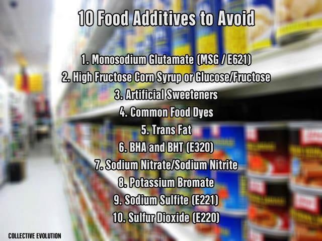10 food additives to avoid.