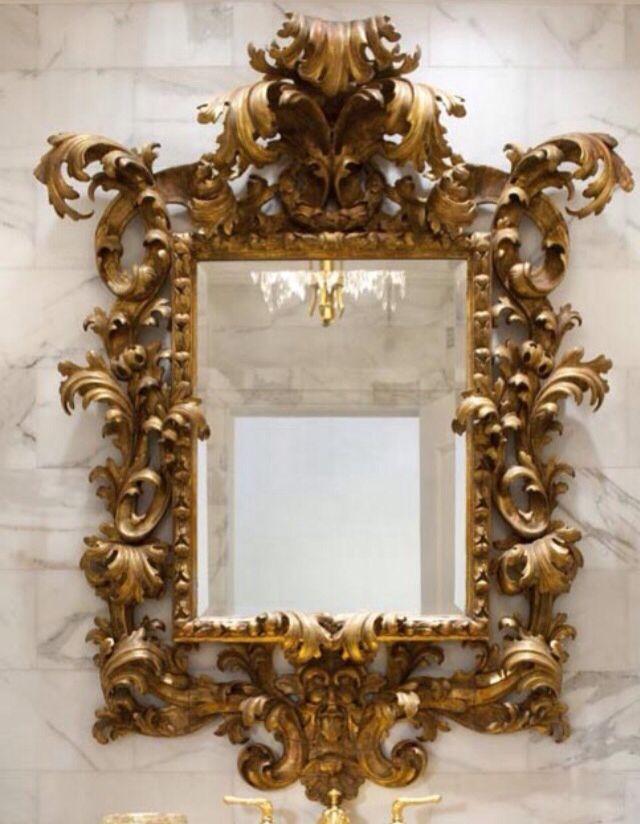 Espejo del oro | ROCHI | Pinterest | Oro, Espejo y Muebles barrocos