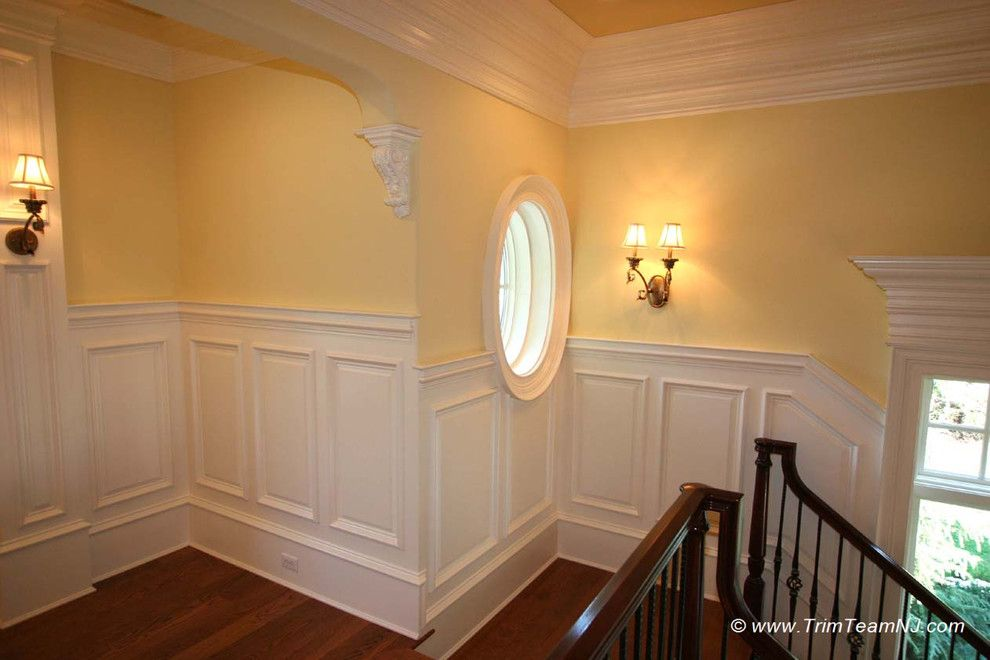 explore wainscoting ideas traditional staircase and more - Wainscoting Design Ideas