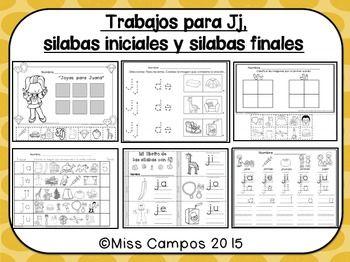 Letra J Silabas Ja Je Ji Jo Ju With Images Spanish