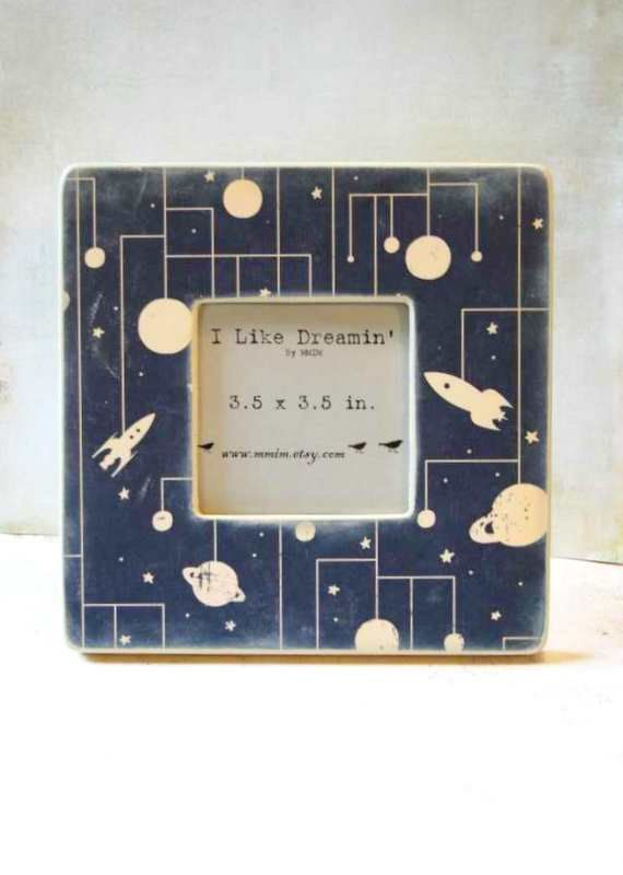Outer Space Picture Frame Outer Space Nursery Space Nursery Space Themed Nursery