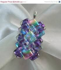 """Képtalálat a következőre: """"fused glass jewelry with crystal"""""""
