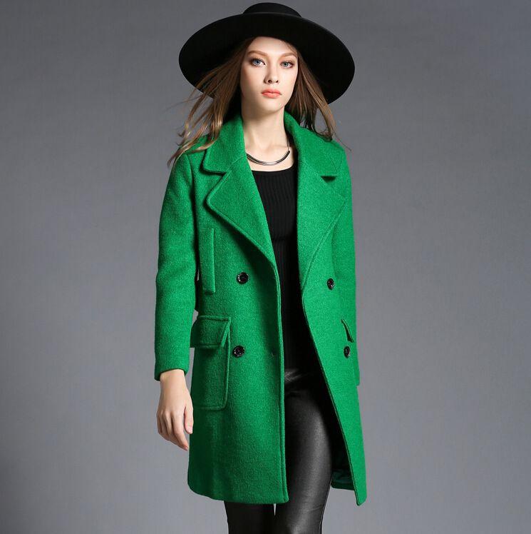 Manteau long femme laine et cachemire