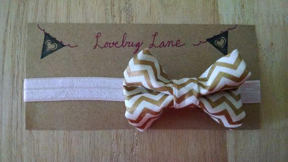 Newborn Baby Hairbow Headband small bow  Amaya by ShopLoveBugLane
