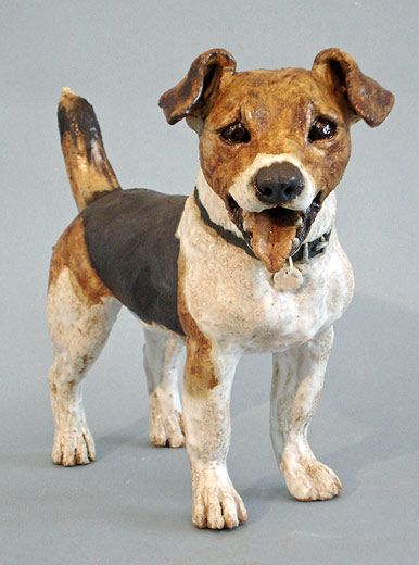 Ceramics By Joanne Cooke At Studiopottery Co Uk 2010 Jack Russell Animal Sculptures Dog Sculpture Dog Pottery