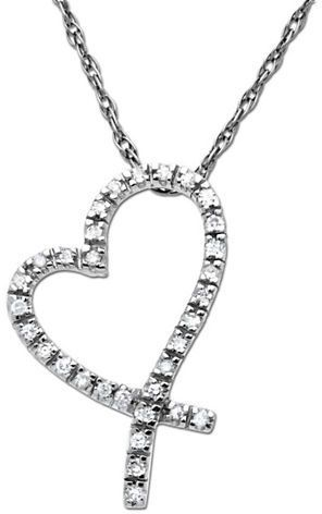 417ccfb330baf Lord & Taylor Diamond Heart Pendant in White Gold on shopstyle.com ...
