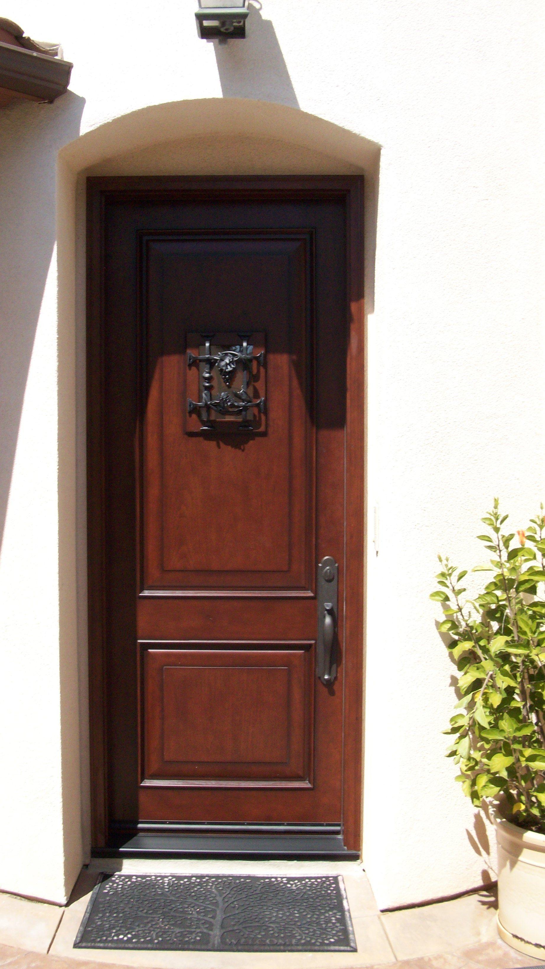 This 8 Ft Tall Jeld Wen Door Is Rustic With A Speak Easy 8 Foot