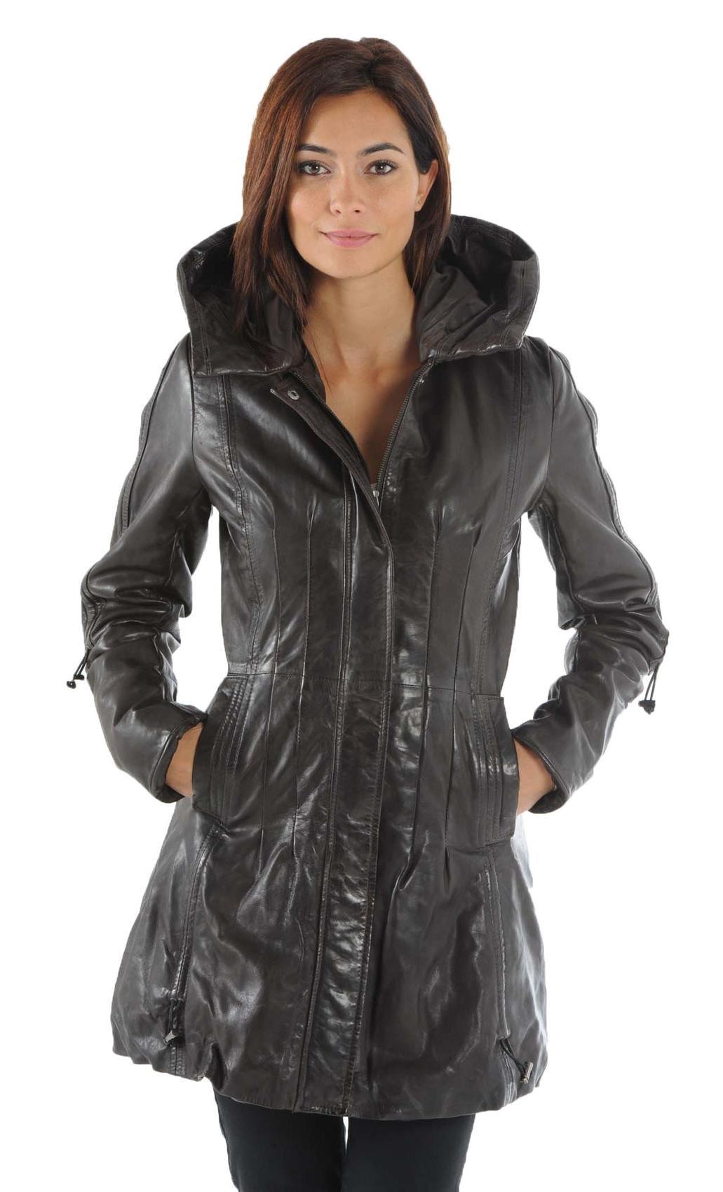 manteau femme en cuir souple. Black Bedroom Furniture Sets. Home Design Ideas