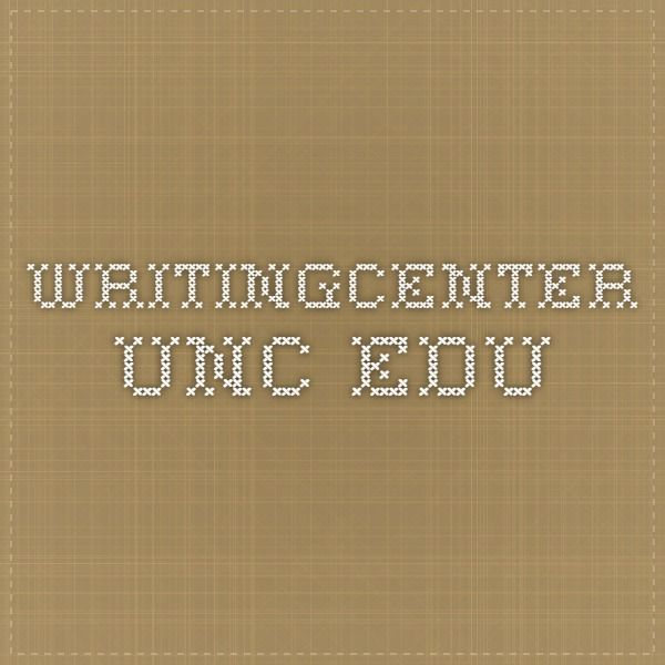 writingcenter.unc.edu