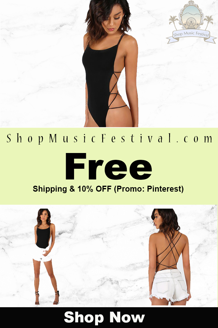 b47da66a822f Skinny cross back Bodysuit in 2018