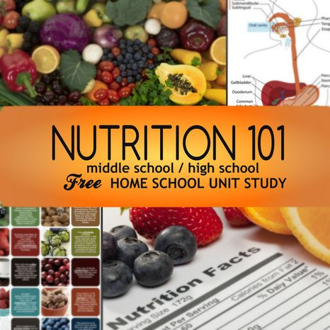Nutrition 101 Free Homeschool Unit Study for middle & high