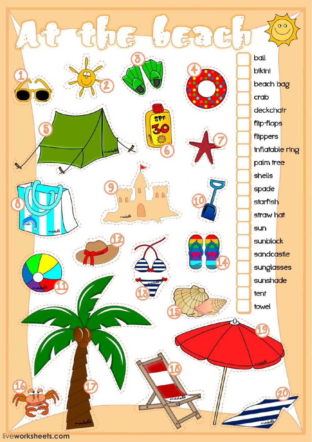 Beach Vocabulary Interactive And Downloadable Worksheet You Can Do The Exercises Online Or Downlo Vocabulary Flash Cards Summer Vocabulary Kids Speech Therapy [ 1413 x 1000 Pixel ]