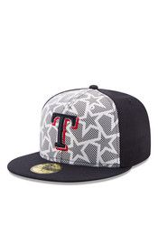 best service 09982 8c5bd Texas Rangers New Era Mens Navy Blue 2016 4th of July 59FIFTY Fitted Hat