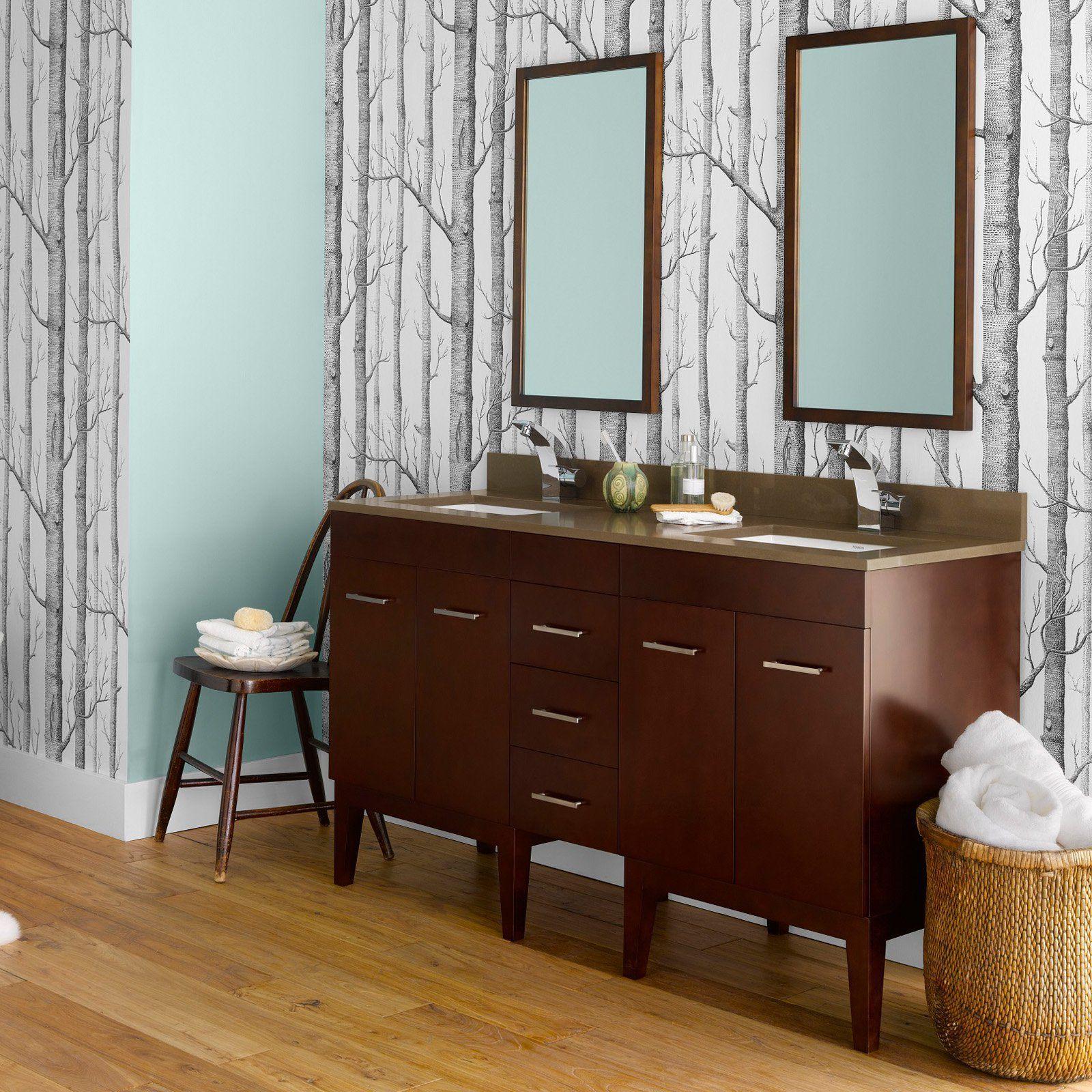 Ronbow 0370237 Venus 59 in. Double Bathroom Vanity Set