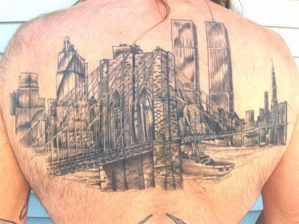 Bridge Skyline Tattoo brooklyn bridge tattoo « top tattoos ...