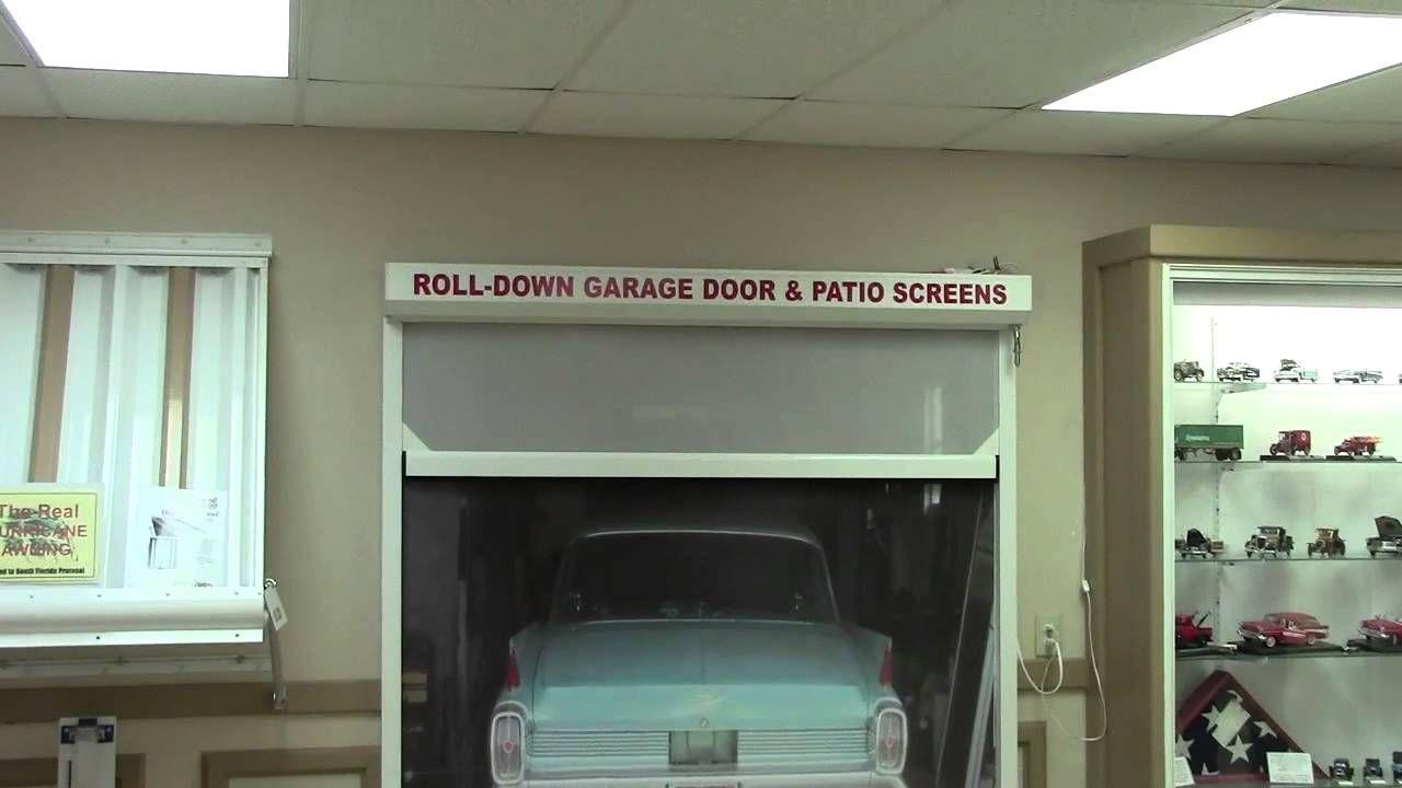 Garage door with rolldown screen patio screen door