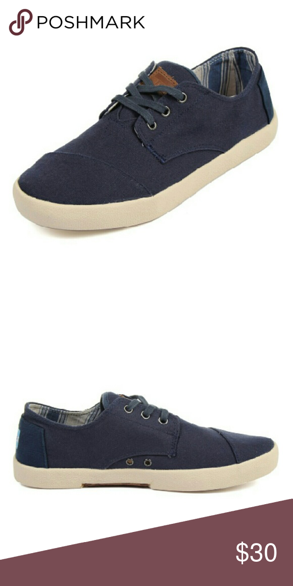 TOMS Mens Navy Canvas Paseos NWT TOMS. Navy blue canvas shoes. Perfect with  shorts