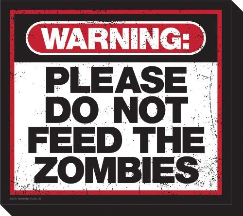 Aquarius Zombie Warning Chunky Magnet ** See this great product.Note:It is affiliate link to Amazon.